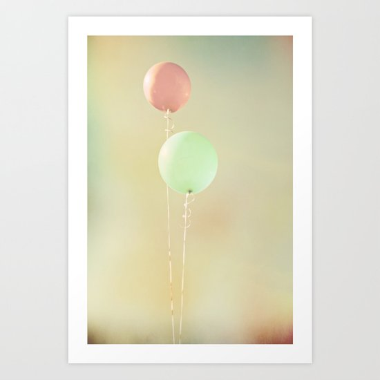 Balloons in Tie-Dyed Sky Art Print