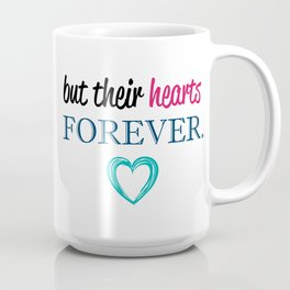 MOTHERS and CHILDREN Quote Artwork - Teal, Blue, Pink, Black Coffee Mug