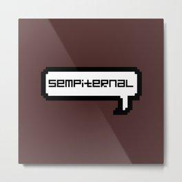 Sempiternal - Maroon Metal Print