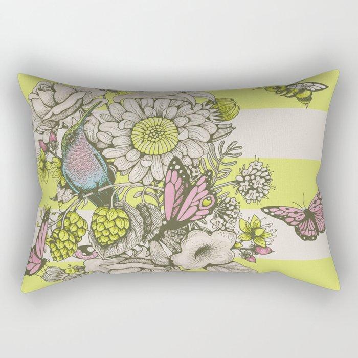 Beauty (eye of the beholder) - striped version Rectangular Pillow