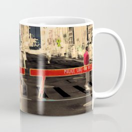 Downtown Chicago photography digitally reimagined - modern Chicago skyline in pop art Coffee Mug