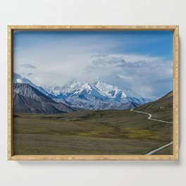 Mount McKinley Denali National Park Alaska Serving Tray