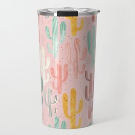 Long Multicolored Cacti Travel Mug