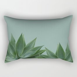 two big Agave leaves green Rectangular Pillow