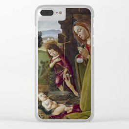 "Sandro Botticelli ""Adoration of Christ with Saint John"" Clear iPhone Case"