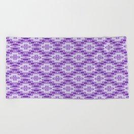 Diamond Pattern in Purple and Lavender Beach Towel