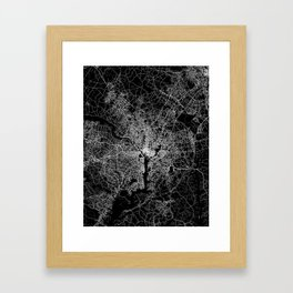 washington map Framed Art Print