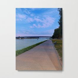 Esplanade on the banks of the river | waterscape photography Metal Print