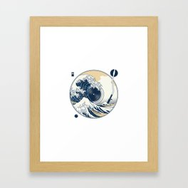 The Great Wave off Sound Framed Art Print