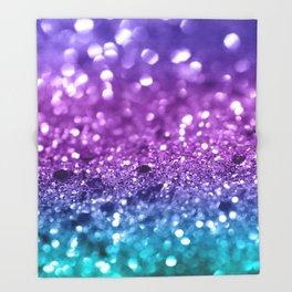 Unicorn Girls Glitter #19 #shiny #decor #art #society6 Throw Blanket