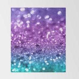 Unicorn Girls Glitter #19 #shiny #decor #art #society6 Throw Blanket