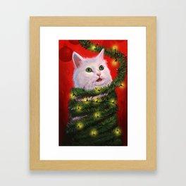 Tinsel Cat Framed Art Print