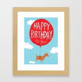 Birthday Balloon Framed Art Print