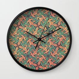 Escape Pattern Wall Clock