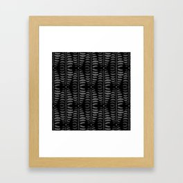 Helecho black pattern Framed Art Print