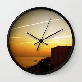 Costa del Sol - Evening Sky Wall Clock