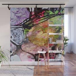 Afloat III - Mixed Media Acrylic Abstract Modern Art, 2015 Wall Mural