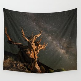 Milky Way over an Ancient Bristlecone Pine  Wall Tapestry