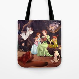 Belle, Wendy and the Lost Boys Tote Bag