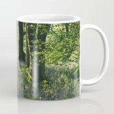 Wild Bluebells in ancient woodland. Wayland Wood, Norfolk, UK. Mug