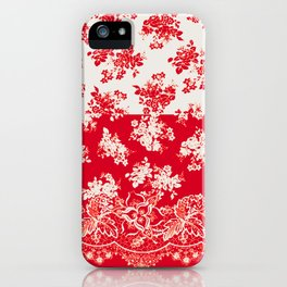 small bouquets in bright red with border iPhone Case