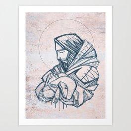 Jesus Christ Good Shepherd Kunstdrucke