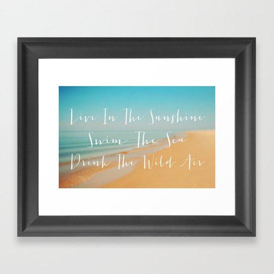Live The Sunshine Framed Art Print