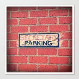 Secretary Parking Canvas Print