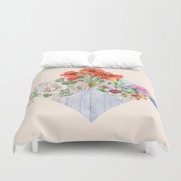 Floral Blocks Duvet Cover