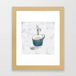 Blue mug Framed Art Print