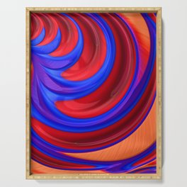 Beautiful Abstract Art by Raphael Terra Serving Tray