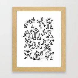 Poses 01 Framed Art Print