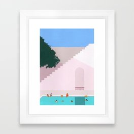 Greece Bliss Framed Art Print