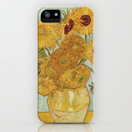 Still Life: Vase with Twelve Sunflowers iPhone Case