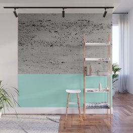 Bright Mint on Concrete #1 #decor #art #society6 Wall Mural