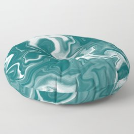 Teal Marble Floor Pillow
