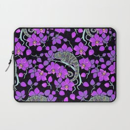 Chameleons and orchids (Gothic) Laptop Sleeve