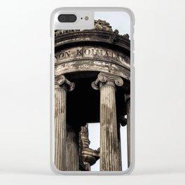 Glaswegian Tomb Clear iPhone Case
