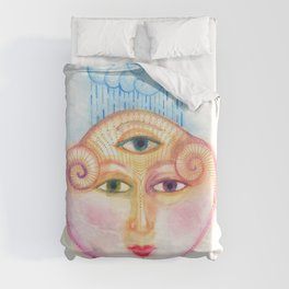 daemon of complicated times Duvet Cover