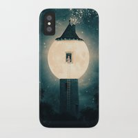 dark tower iPhone & iPod Cases featuring The Moon Tower by Paula Belle Flores