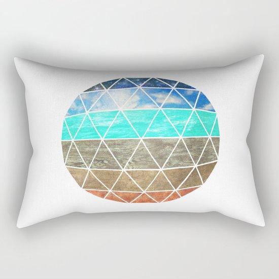 Elemental Geodesic  Rectangular Pillow