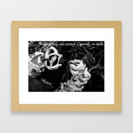 The bones lady was revered. Especially in death. Framed Art Print