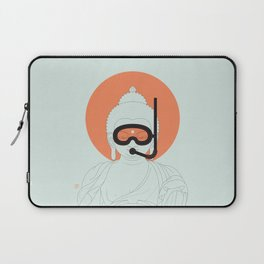 Buddha : Take A Deep Breath! Laptop Sleeve