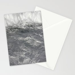 Roiling in Almost Black and White Stationery Cards