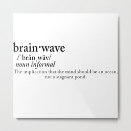 Brain Wave   Definition Metal Print