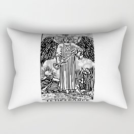 Temperance - A Floral Print Rectangular Pillow