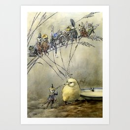 """Bother the Gnat"" by Duncan Carse Art Print"
