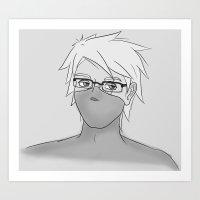 kakashi Art Prints featuring Kakashi Glasses by cakeiton
