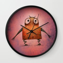 Pink Droid Undroid Wall Clock
