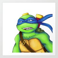 leonardo Art Prints featuring Leonardo by Savanity